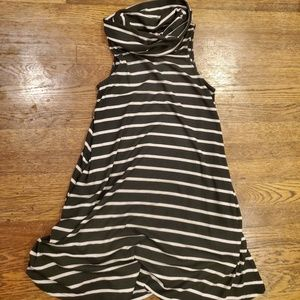 Sleeveless swingy cowl neck dress